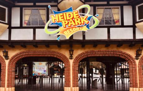 Eingangs Schild LED Heide Park Resort
